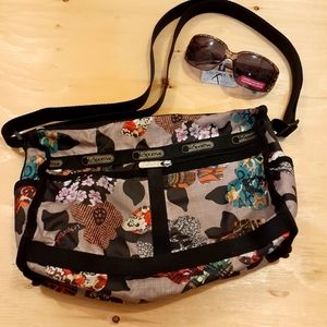 2 for $25- Le Sportsac Bag in Tan & Black